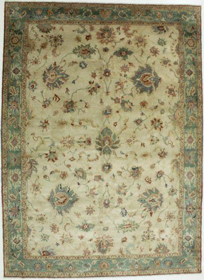 Ivory Karaman Rug #554 • 9′4″ x 12′8″ • 100% Wool