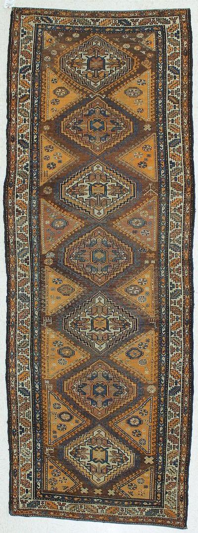 Peach Malayer Rug #298 • 3′10″ x 10′4″ • Wool on Cotton
