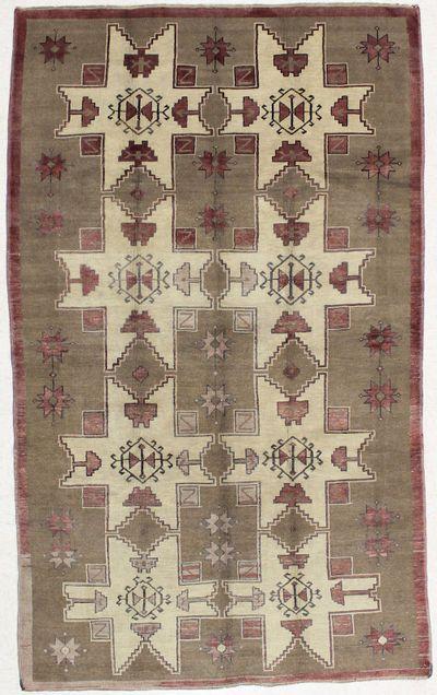 Ivory Konya Rug #1540 • 5′0″ x 8′5″ • 100% Wool
