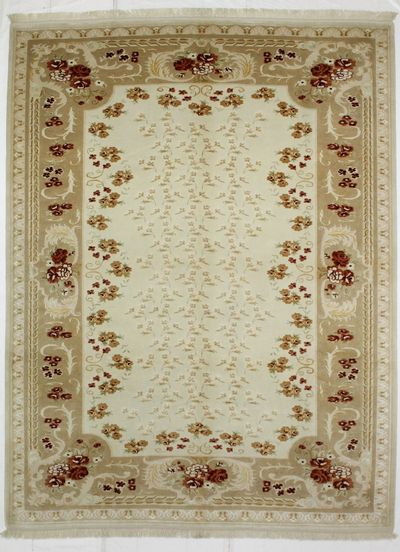 Ivory Ottoman Rug #8320 • 8′0″ x 10′6″ • 100% Wool