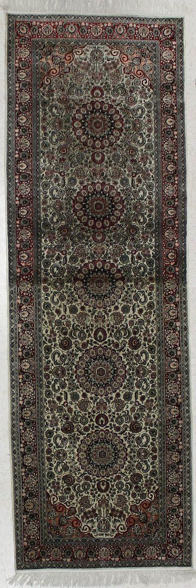 Ivory Signed Silk Rug #1815 • 2′7″ x 8′1″ • 100% Silk