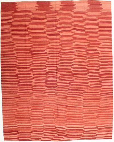 Red Modern Rug #1989 • 8′6″ x 10′9″ • 100% Wool