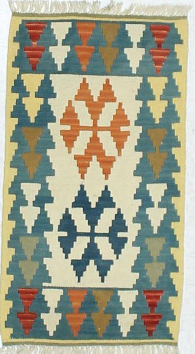 Multicolor Kilim Rug #859 • 2′1″ x 3′1″ • 100% Wool