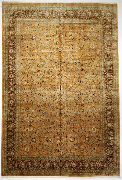 Light Brown Tabriz Rug #1277 • 12′0″ x 18′0″ • Wool on Cotton