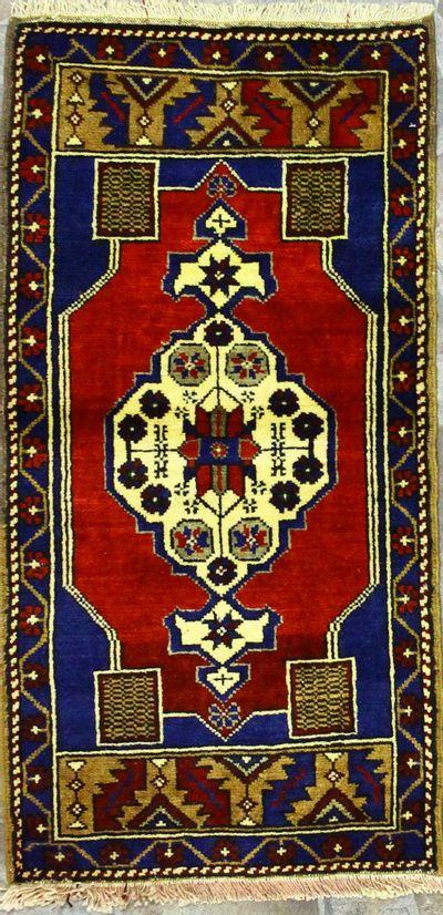 Red Konya Rug #916 • 1′10″ x 3′8″ • 100% Wool