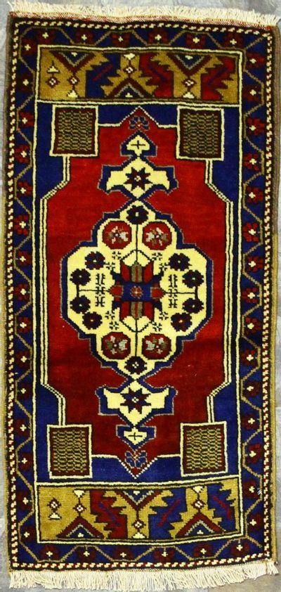 Red Konya Rug #901 • 1′9″ x 3′5″ • 100% Wool