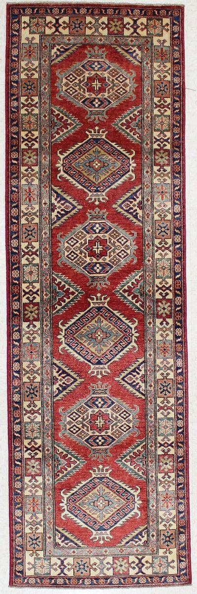 Red Kazak Rug #2189 • 2′7″ x 8′4″ • 100% Wool