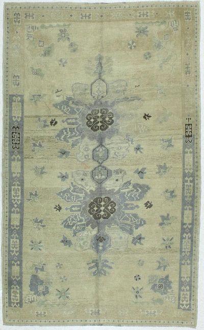 Ivory Konya Rug #89 • 5′2″ x 8′7″ • 100% Wool