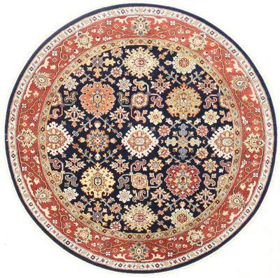 NAVY Serapi Rug #7517 • 6′0″ x 6′0″ • Wool on Cotton