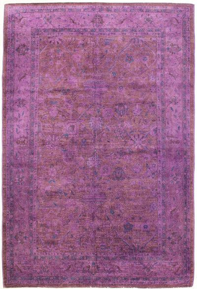 Purple Over Dyes Rug #7245 • 6′1″ x 9′1″ • Wool on Cotton