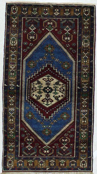 Blue Konya Rug #449 • 3′3″ x 5′11″ • 100% Wool