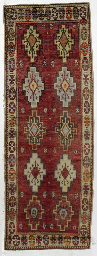 Red Konya Rug #2685 • 3′6″ x 9′11″ • 100% Wool