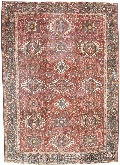 Red Karacah Rug #6737 • 7′10″ x 11′1″ • 100% Wool