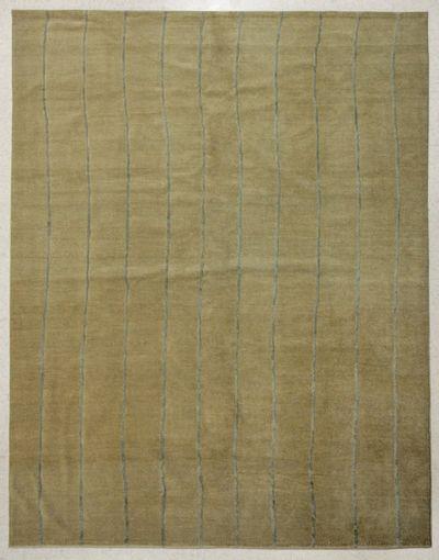 beige Modern Rug #7713 • 8′0″ x 10′0″ • 100% Wool
