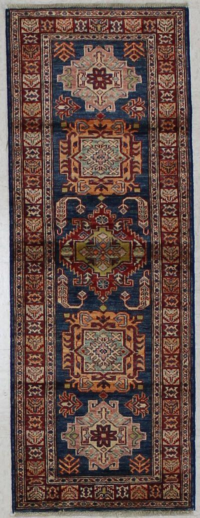 NAVY Kazak Rug #1776 • 2′2″ x 5′10″ • 100% Wool