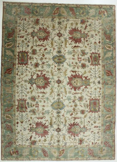 White Sultanabad Rug #677 • 10′2″ x 14′0″ • 100% Wool