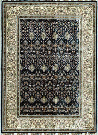 Blue Cezaevi Rug #1136 • 4′7″ x 6′5″ • 100% Silk