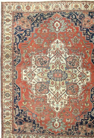 Rust Serapi Rug #7503 • 12′0″ x 15′6″ • 100% Wool