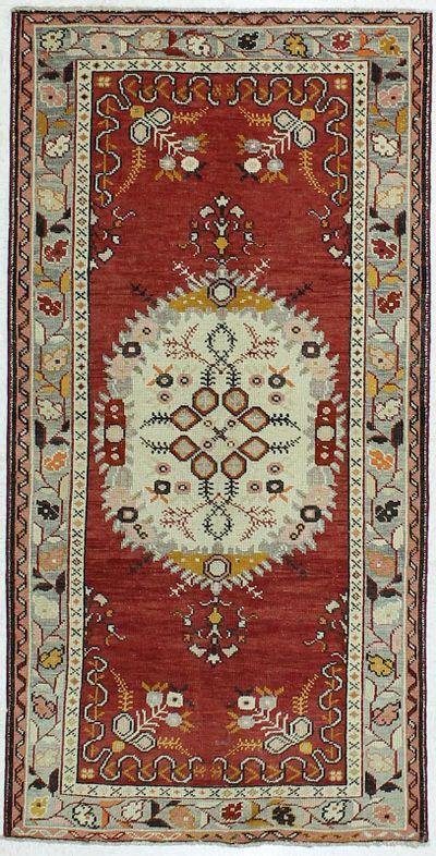 Rust Konya Rug #51 • 3′4″ x 6′6″ • 100% Wool
