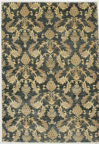 Green Modern Rug #8294 • 5′6″ x 7′10″ • Wool on Cotton