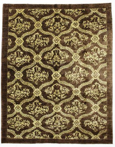 Brown Ushak Rug #1355 • 6′8″ x 8′4″ • Wool on Cotton