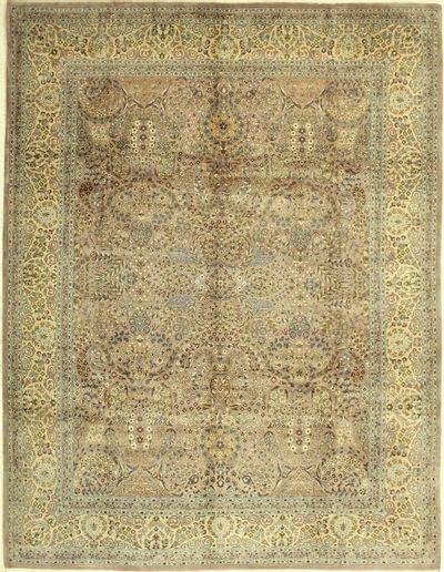Purple Tabriz Rug #718 • 8′2″ x 10′6″ • 100% Wool
