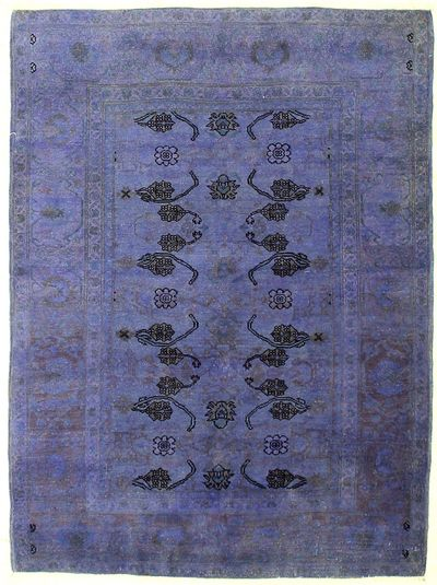 Purple Over Dyes Rug #7256 • 4′6″ x 6′1″ • Wool on Cotton