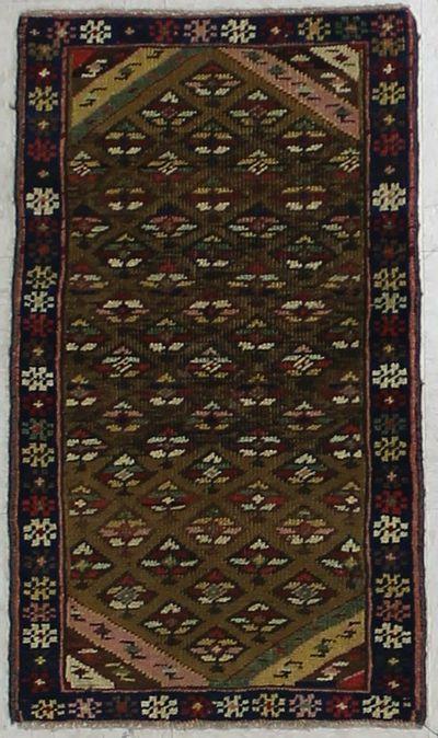 Gold Konya Rug #1977 • 1′7″ x 2′10″ • 100% Wool