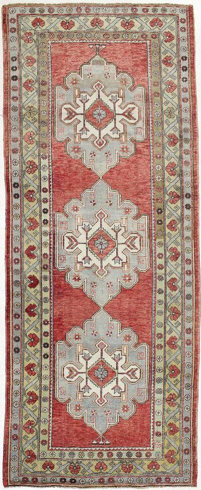 Red Konya Rug #1855 • 4′8″ x 11′10″ • 100% Wool