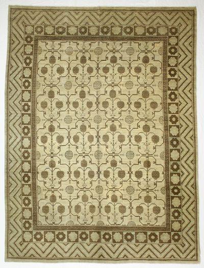 Ivory Kothan Rug #774 • 8′9″ x 11′8″ • Wool on Cotton