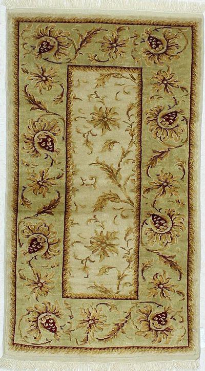 Ivory Ushak Rug #458 • 2′8″ x 4′10″ • 100% Wool