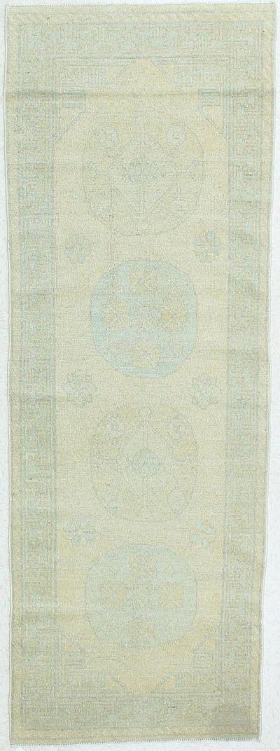 Blue Kothan Rug #308 • 3′0″ x 8′4″ • Wool on Cotton
