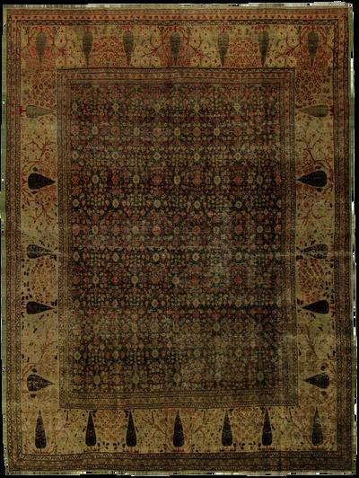 Gray Tabriz Rug #7725 • 7′8″ x 9′10″ • 100% Wool