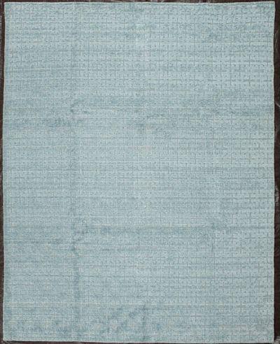 Light Blue Modern Rug #8099 • 8′0″ x 10′0″ • Wool on Silk