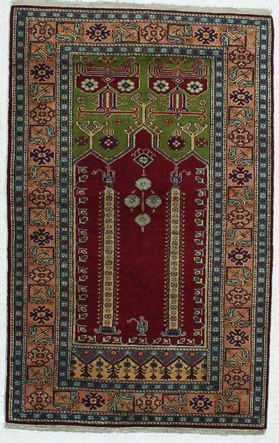 Red Kayseri Rug #452 • 3′0″ x 4′7″ • Wool on Cotton