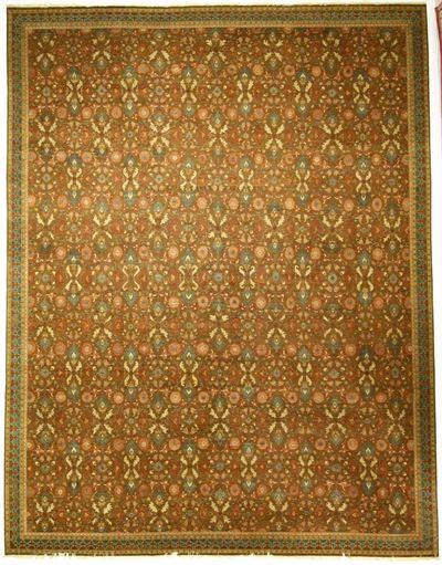 Brown Ushak Rug #8469 • 14′11″ x 19′2″ • 100% Wool