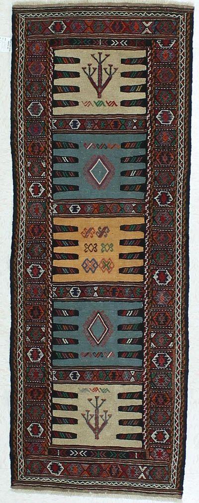Red Kilim Rug #401 • 2′1″ x 5′9″ • 100% Wool