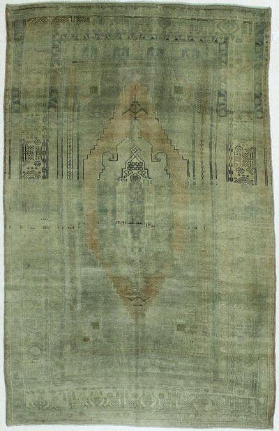 Gray Konya Rug #102 • 5′7″ x 8′9″ • 100% Wool