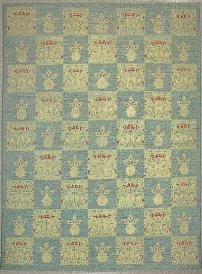 LT BLUE Contemporary Rug #7259 • 9′2″ x 11′8″ • Wool on Cotton