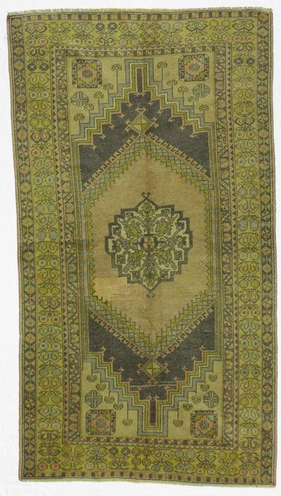 Blue Konya Rug #146 • 3′11″ x 7′3″ • 100% Wool