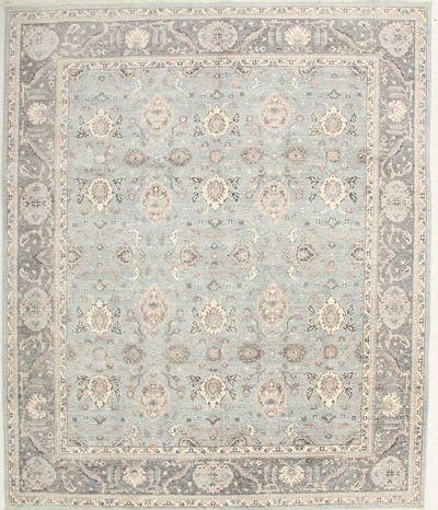 Blue Ushak Rug #6728 • 8′1″ x 9′8″ • 100% Wool