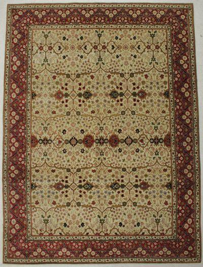 Ivory Ottoman Rug #8353 • 8′11″ x 11′10″ • Wool on Cotton