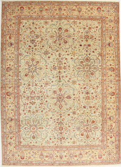 Ivory Sivas Rug #1486 • 9′2″ x 12′8″ • 100% Wool