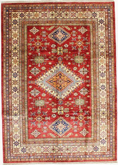 Red Kazak Rug #1662 • 6′11″ x 9′8″ • 100% Wool