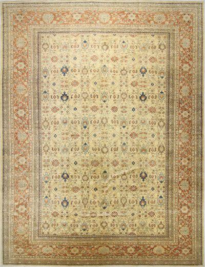 Ivory Ushak Rug #7859 • 17′10″ x 23′4″ • 100% Wool