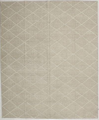 beige Modern Rug #1987 • 8′3″ x 10′1″ • 100% Wool