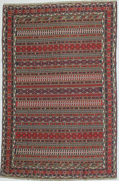 Multicolor Kilim Rug #474 • 5′1″ x 9′6″ • 100% Wool