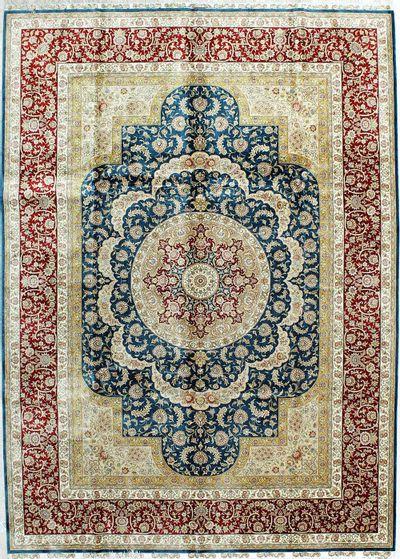 Blue Cezaevi Rug #396 • 7′2″ x 10′0″ • 100% Silk