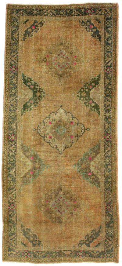 Camel Konya Rug #2119 • 4′11″ x 11′0″ • 100% Wool