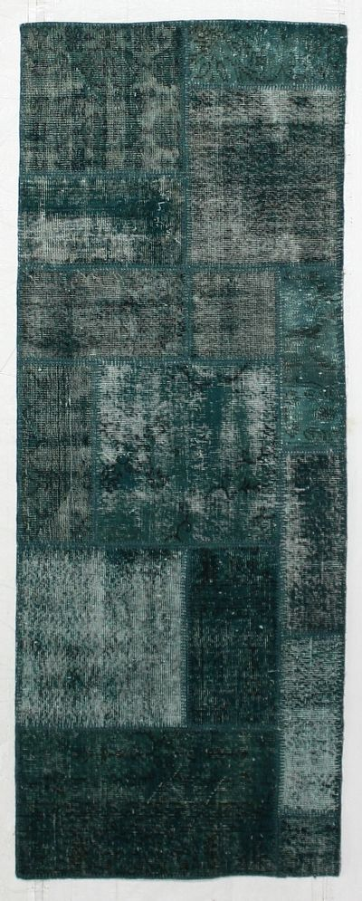 Blue Over Dyes Rug #8791 • 2′11″ x 7′10″ • 100% Wool